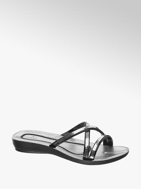 Blue Fin Stříbrné pantofle Blue Fin