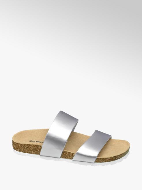 Graceland Stříbrné pantofle Graceland