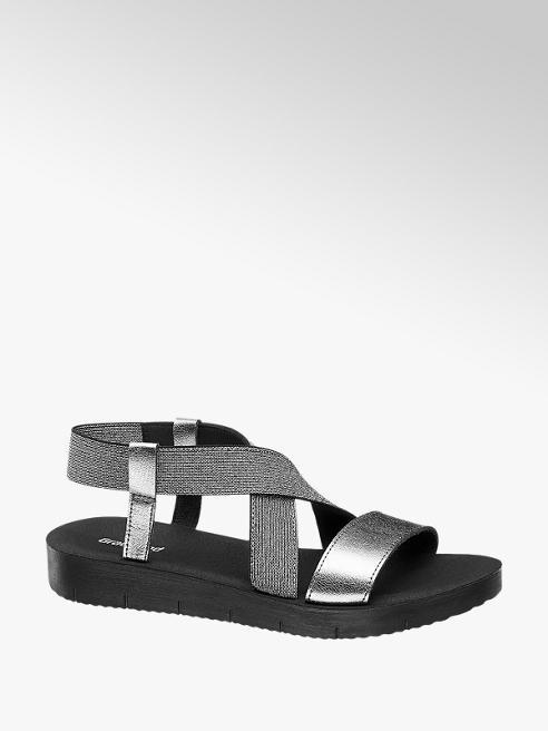 Graceland Stříbrné sandály Graceland