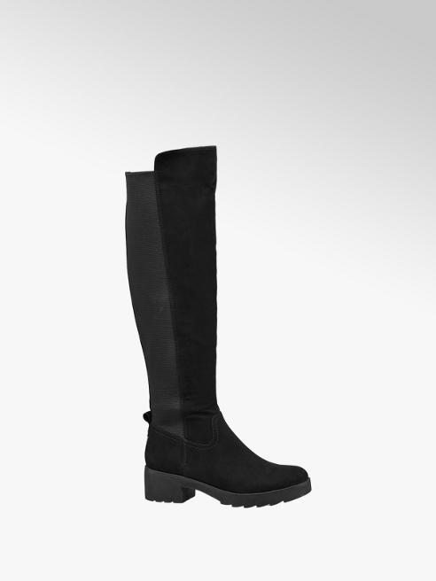 Graceland Stivale flat nero con tessuto elasticizzato