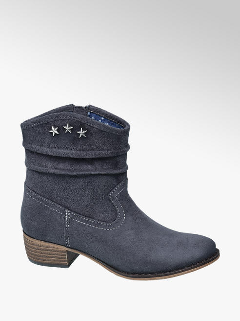 Graceland Stivale texano color denim
