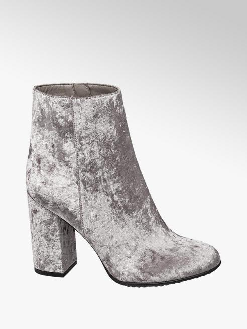 Graceland Stivaletto grigio in velluto