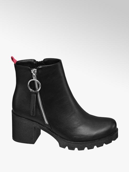 Catwalk Stivaletto nero con zip laterale