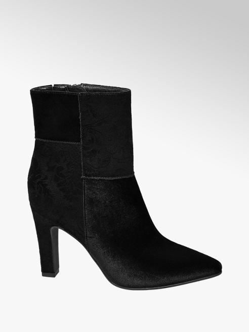 Catwalk Stivaletto nero in velluto