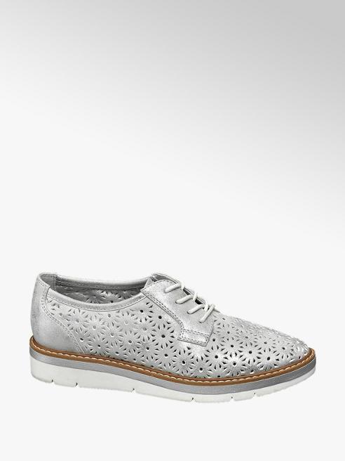Graceland Stringata grigio-argento con tomaia traforata