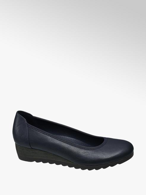 Graceland Sötétkék női telitalpú cipő