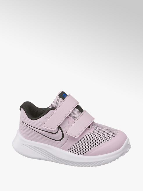 NIKE Svetlofialové detské tenisky na suchý zips Nike Star Runner 2