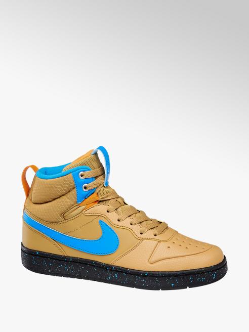 NIKE Světle hnědé kotníkové tenisky Nike Court Borough Mid