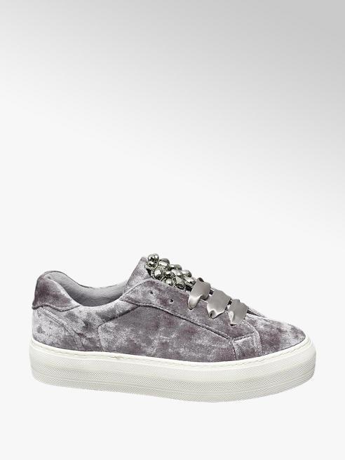 Graceland Szürke bársony sneaker