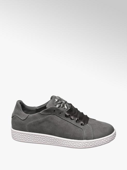 Graceland Szürke sneaker szatén fűzővel