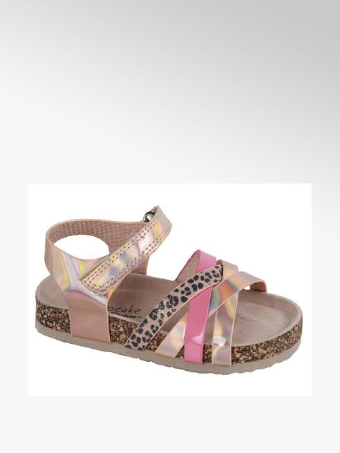 Cupcake Couture Telové metalické sandále na suchý zips Cupcake Couture