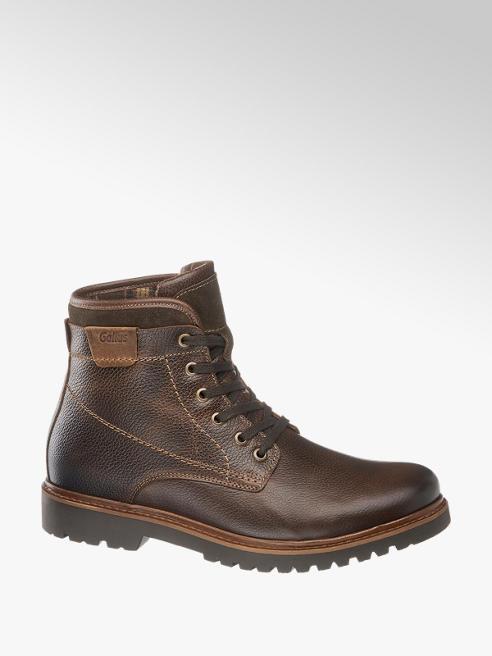 Gallus Tmavě hnědá komfortní kožená kotníková obuv Gallus