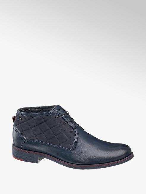 Wojas Tmavě modrá kožená kotníková obuv Wojas