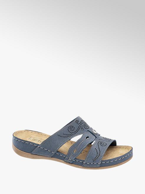 Easy Street Tmavě modré komfortní pantofle Easy Street