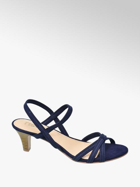 Esprit Tmavě modré sandály na podpatku Esprit