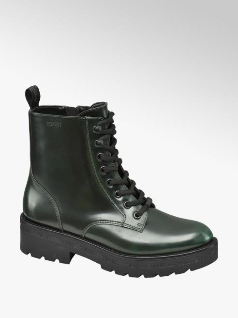 Esprit Tmavě zelená šněrovací obuv se zipem Esprit