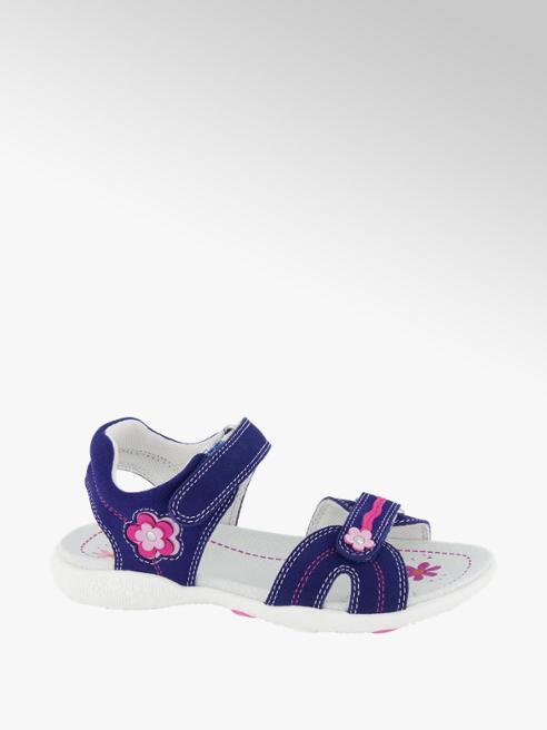 Graceland Tmavomodré kožené sandále na suchý zips Graceland