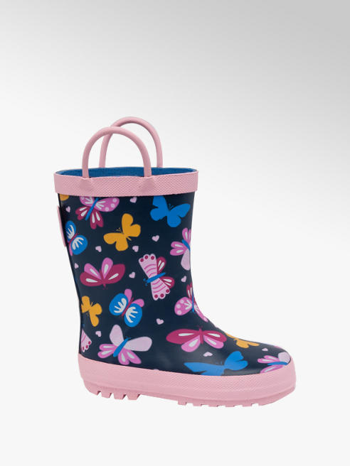Toddler Girl Butterfly Wellingtons