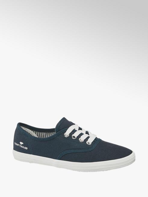 Tom Tailor Leinen Sneaker in Blau