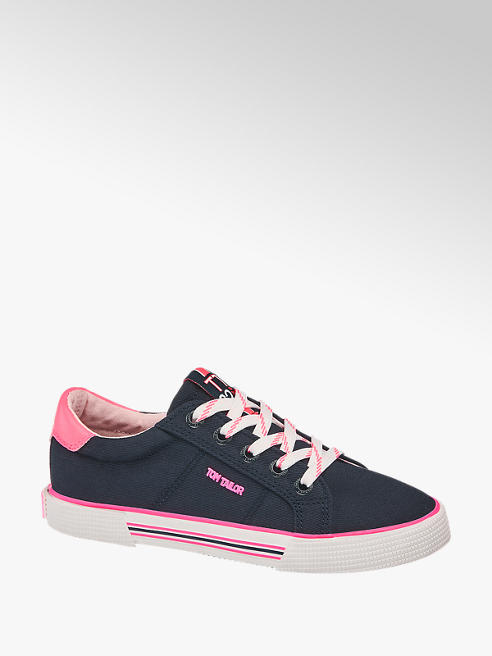 Tom Tailor Leinen Sneaker in Dunkelblau