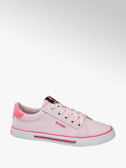 Tom Tailor Leinen Sneaker in Rosa