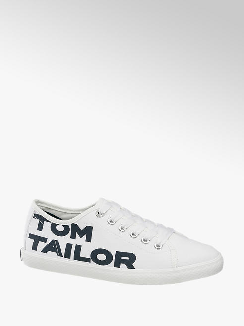 Tom Tailor Leinen Sneaker in Weiß