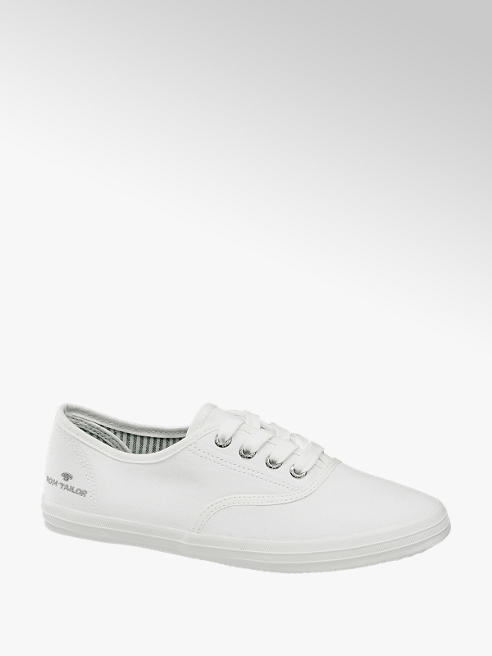 Tom Tailor Leinen Sneaker in Weiß