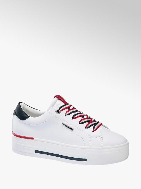 Tom Tailor Plateau Sneaker in Weiß