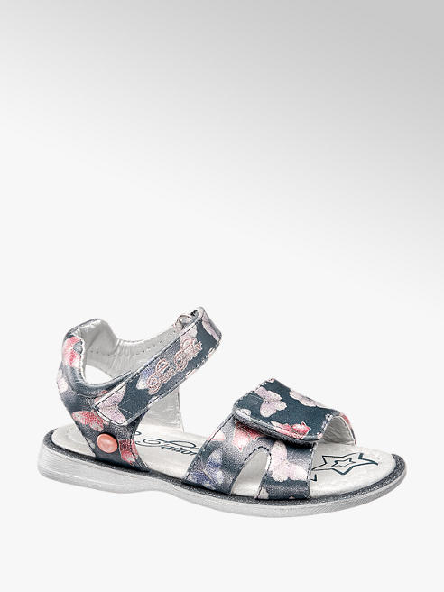 Tom Tailor Sandalen in Blau mit Print-Ons