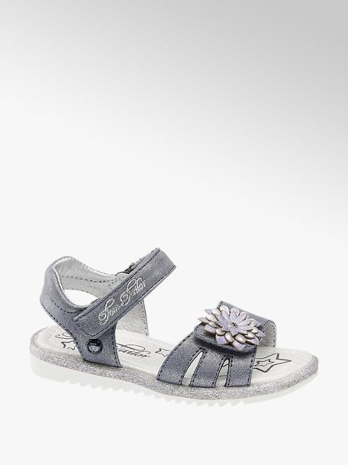 Tom Tailor Sandalen in Silber mit Glitzer Details