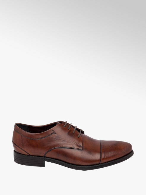 Tredflex Hardwick - Mens Brown Leather Formal Lace-up Shoes