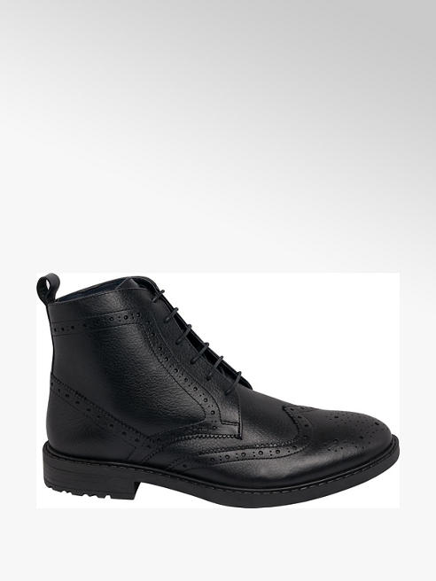 Tredflex Mens Tredflex Denton Black Brogue Formal Lace-up Boot