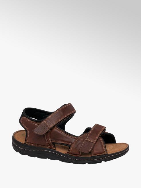 Tredflex Mens Tredflex Tan Leather Full Double Strap Sandals