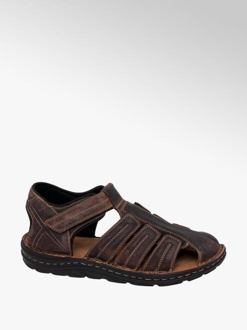 Tredflex Mens Tredflex Brown Leather Full Sandals
