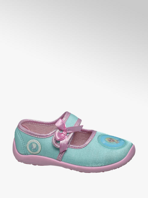 Frozen Türkíz színű lány házicipő