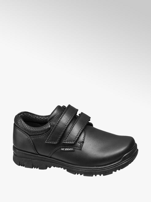 US Brass Junior Boy Chunky Twin Strap Shoes