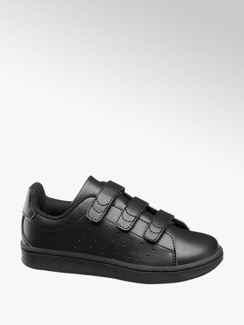 Vty Junior Boys VTY Black Touch Strap Trainers