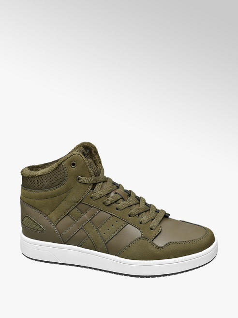 Vty Mens Mid-cut Lace Up Trainers