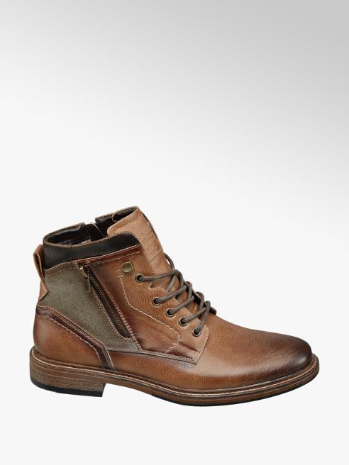 Venice Bruine boot vetersluiting