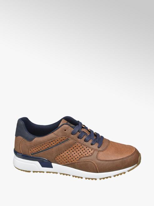 Venice Bruine sneaker perforaties
