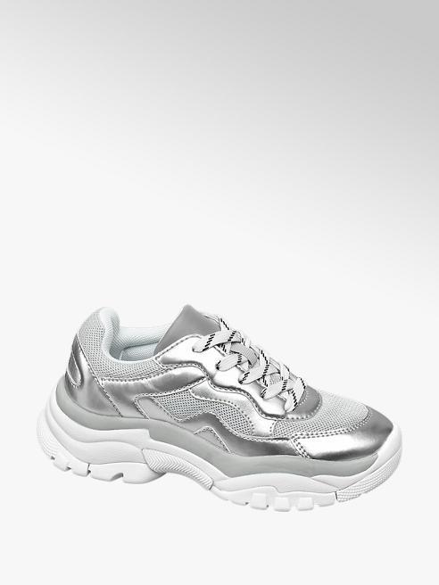 Venice Chunky Sneaker in Silber