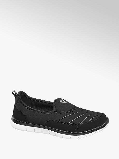 Venice Ladies Black Slip On Casual Shoes