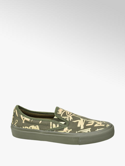 Venice Ladies Slip-on Canvas Printed Shoes