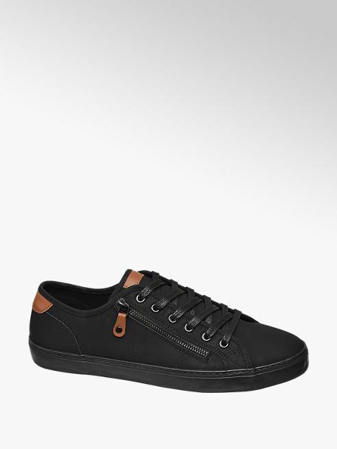 Venice Leinen Sneaker in Schwarz