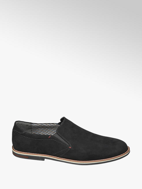 Venice Mens Venice Black Formal Slip-on Shoes