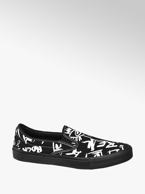 Venice Mens Slip-on Canvas Printed Shoe
