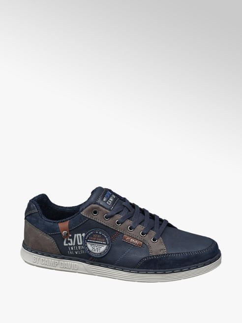 Venture by Camp David Blauwe sneaker vetersluiting