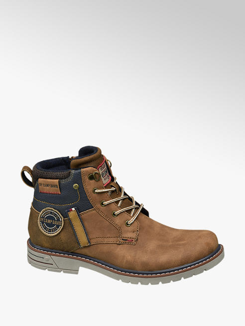 Venture by Camp David Bruine boot vetersluiting