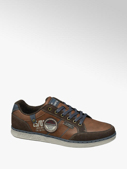 Venture by Camp David Bruine sneaker vetersluiting