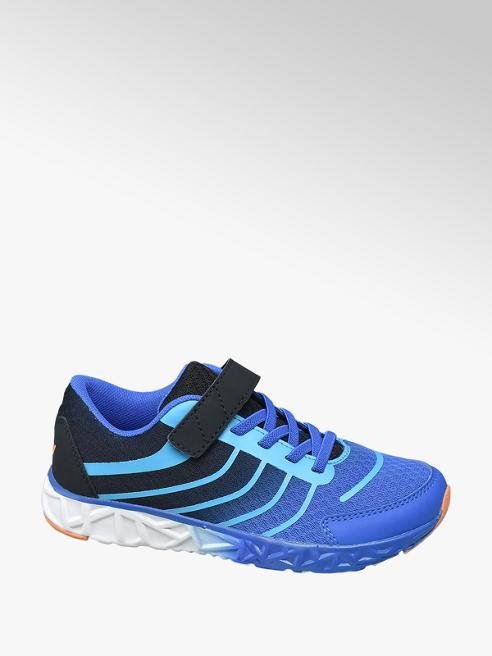 Victory Blauw lightweight sneaker klittenbandsluiting